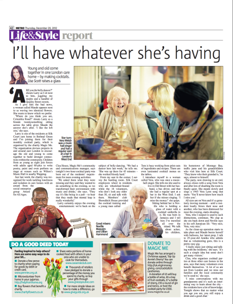 Metro UK: Cocktails in Care Homes